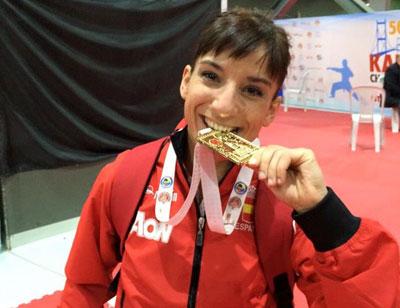 La talaverana Sandra Sánchez, campeona de Europa de kata en Estambul