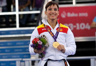 La karateka talaverana Sandra Sánchez se cuelga el oro en los Juegos Europeos de Bakú