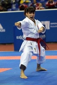 La karateka Sandra Sánchez se proclama subcampeona en el Open de Dubai