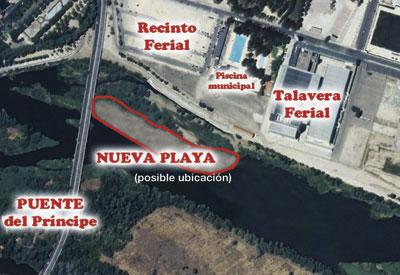 Talavera podría volver a tener playa en el río Tajo
