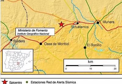 Un terremoto de 5,2 grados en la escala Richter con epicentro en Albacete se nota en media España