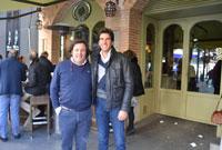El rejoneador Sergio Galán para en Talavera para visitar a su amigo Óscar Bermúdez