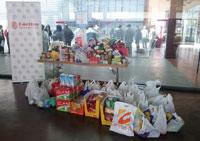 La Junta de Cofradías de Talavera recoge 1.200 kilos de alimentos para Cáritas