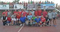 Fútbol sala solidario en el barrio Santa María a favor de Blas Serrano y su lucha contra la ELA