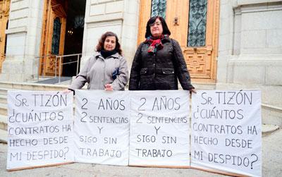 Extrabajadores de la Diputación de Toledo reclaman su readmisión tras la sentencia judicial
