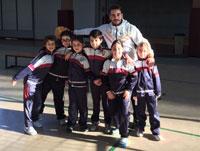 El colegio Juan Ramón Jiménez participa con su club de voley en el Torneo de Navidad