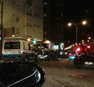 Aparatoso accidente junto a la Avenida de Madrid