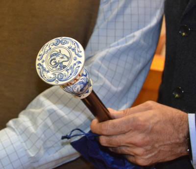 Un bastón renacentista con el sello de Franpesa