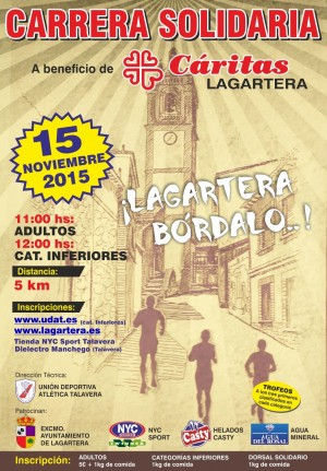 Carrera Solidaria en Lagartera para Cáritas