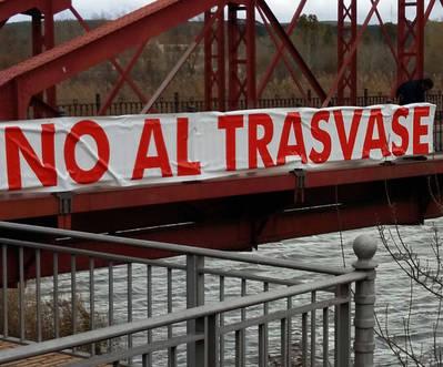 Desaparecen 2 pancartas en defensa del Tajo