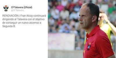 Fran Alcoy renueva con el CF Talavera