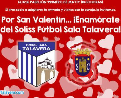 El Soliss FS Talavera se suma a San Valentín