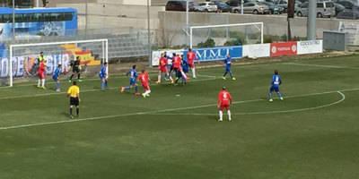 El CF Talavera empata con todo en contra en Fuenlabrada
