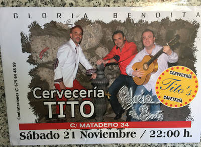 Gloria Bendita esta noche en Cervecer�a Tito