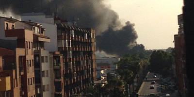El humo llega a las calles de Talavera