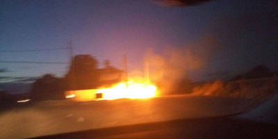 Un incendio asusta en la Carretera de Cervera