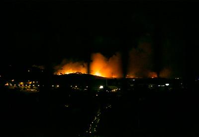 Incendio de grandes proporciones en el Cerro Negro