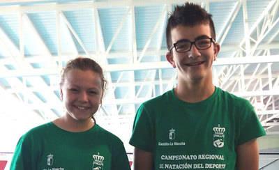 Javier y Vera brillan en el regional de natación