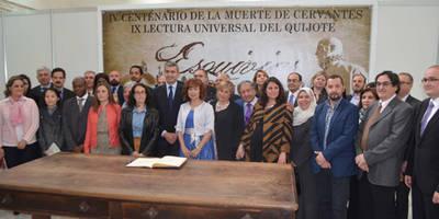 "Álvaro Gutiérrez inica la ""IX Lectura universal del Quijote"" de Esquivias"