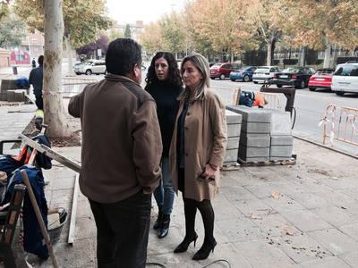 Renovado el acerado roto de la calle Cuenca