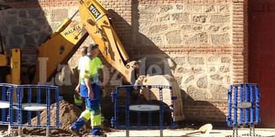 En busca de la acometida de agua de la Plaza de Toros