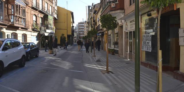 Primera prueba de peatonalización en Corredera este fin de semana