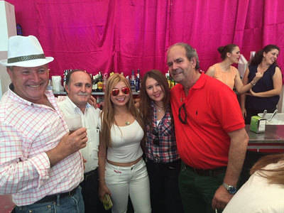 El alcalde de Cervera en la Caseta de La Voz