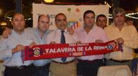 Tomás Reñones preside la cena de la Peña del Atlético de Madrid de Talavera