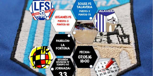 El Soliss FS Talavera viaja a Leganés dispuesto a hacer sus deberes