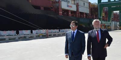 Jaime Ramos mantiene una reunión en el Puerto de Sines