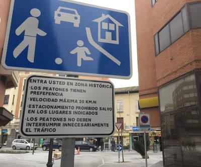 Nueva señalización en la calle Corredera