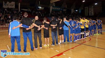El FS Talavera vence a Leganés y ofrece su particular homenaje a Santiago Ramos