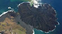 Una isla japonesa aumenta su tamaño tras una erupción volcánica