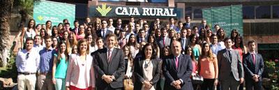 Caja Rural CLM da la bienvenida a los 74 universitarios que realizarán sus prácticas en la Entidad