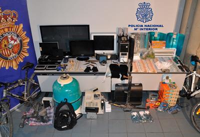 Cuatro detenidos en Talavera por diversos robos con violencia, tráfico de drogas y tenencia ilícita de armas
