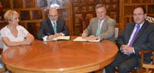 La Diputación colabora con el Banco de Alimentos de Toledo para ampliar su sistema de gestión