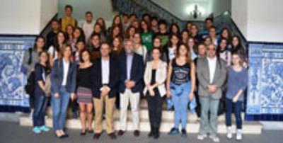 Recepción de alumnos italianos en el Ayuntamiento