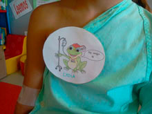 Los niños ingresados en el Hospital de Talavera inician también el curso