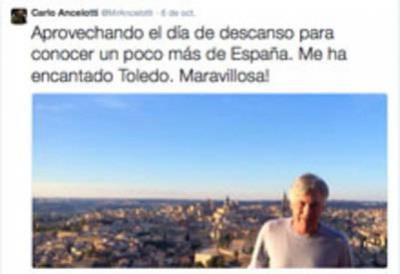 Ancelotti disfrutó visitando Toledo en su día libre