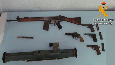 Detenido por almacenar armas ilegales en su domicilio de Talavera