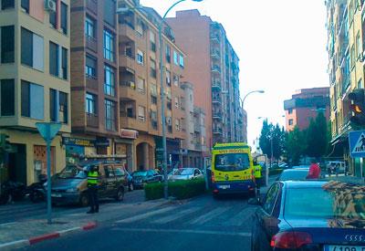 Atropellado un peat�n en un paso de peatones de la Calle Capit�n Luque