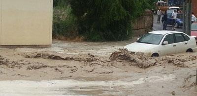 La comarca también sufre los efectos de las tormentas