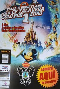 El CF Talavera sortea un viaje a Disneyland París por solo 1 euro