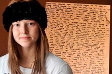 Una niña deja un mensaje sobre la vida tras un espejo antes de morir