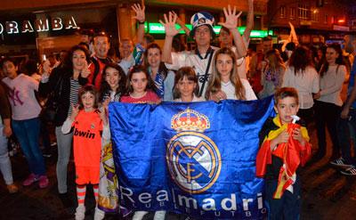 Multitudinaria celebración de la décima Champions del Real Madrid