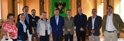 García-Tizón recibe en audiencia a la nueva Junta Pro-Corpus de Toledo