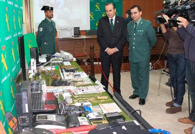 La Guardia Civil detiene a diez personas autoras de 37 delitos e incauta armas, drogas y joyería robada en la provincia de Toledo