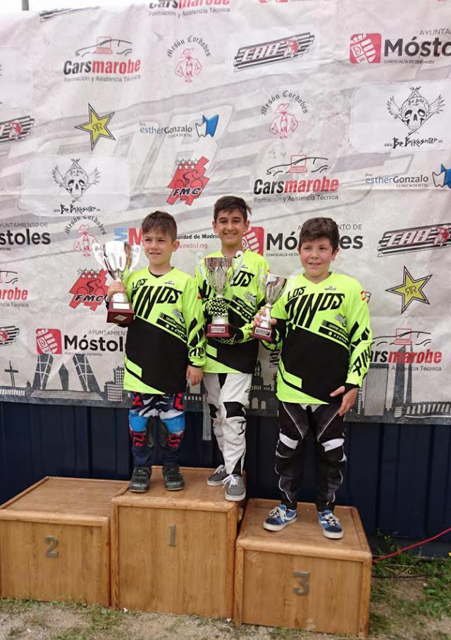 Ángel Heras, Daniel Bonilla consiguen el oro y Manuel Fernández el bronce en la segunda copa de Madrid de BMX