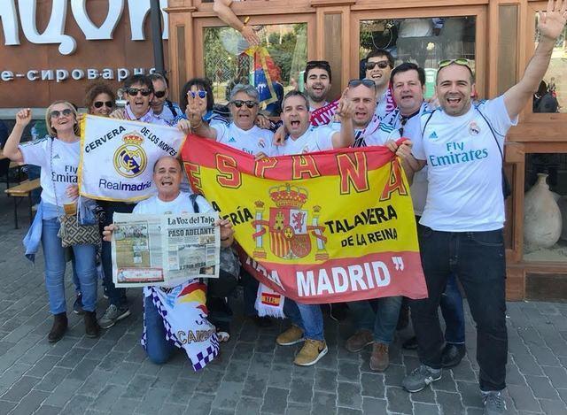 Aficionados de Talavera y comarca vivieron en directo la decimotercera Copa de Europa del Real Madrid