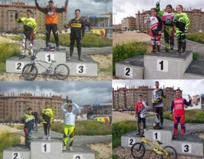 Buena actuación de los pilotos del club Los Pinos de BMX en Madrid